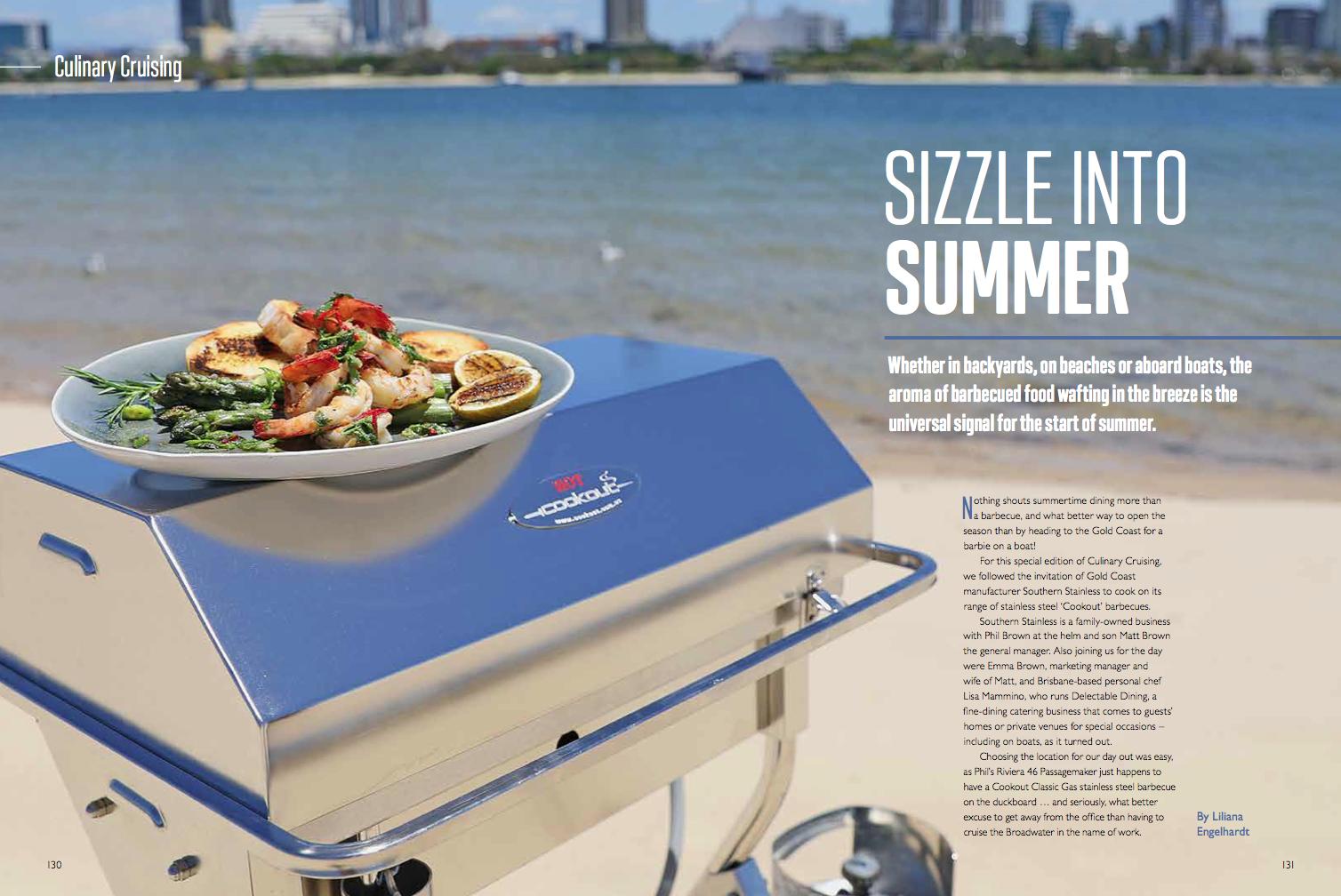 Club Marine Magazine-Cookout BBQ Culinary Cruising