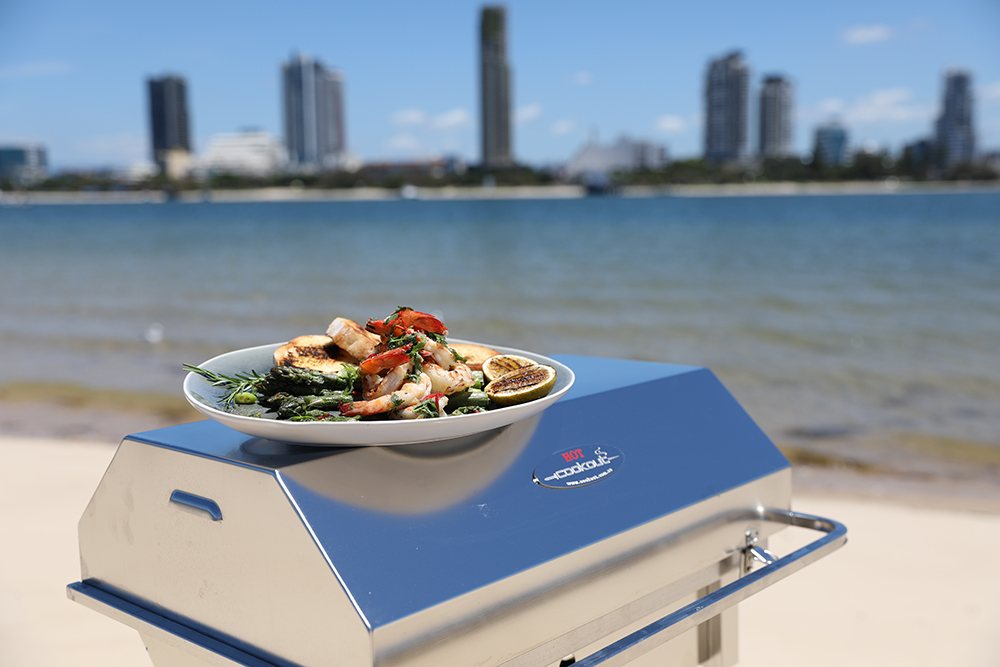Portable Cookout BBQ stainless Beach Stand