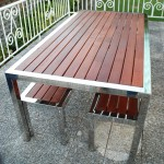 Southern Stainless timber and stainless table setting