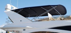 Custom stainless steel boat awning