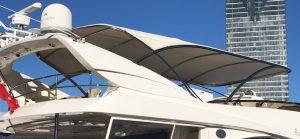 Custom stainless steel boat canopy