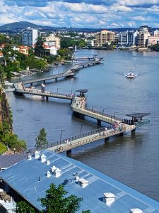 Brisbane Riverwalk Rebuild 1900 metres of stainless handrails