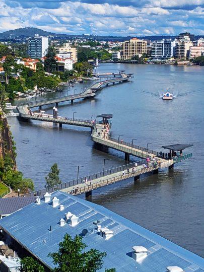 Brisbane Riverwalk Rebuild-1900 metres of stainless handrails
