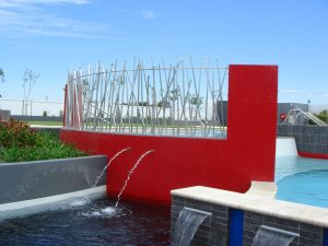 stainless steel feature pool fence