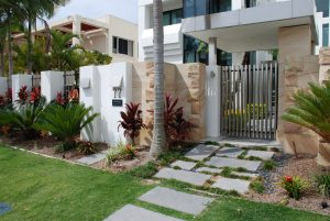 stainless steel front gate