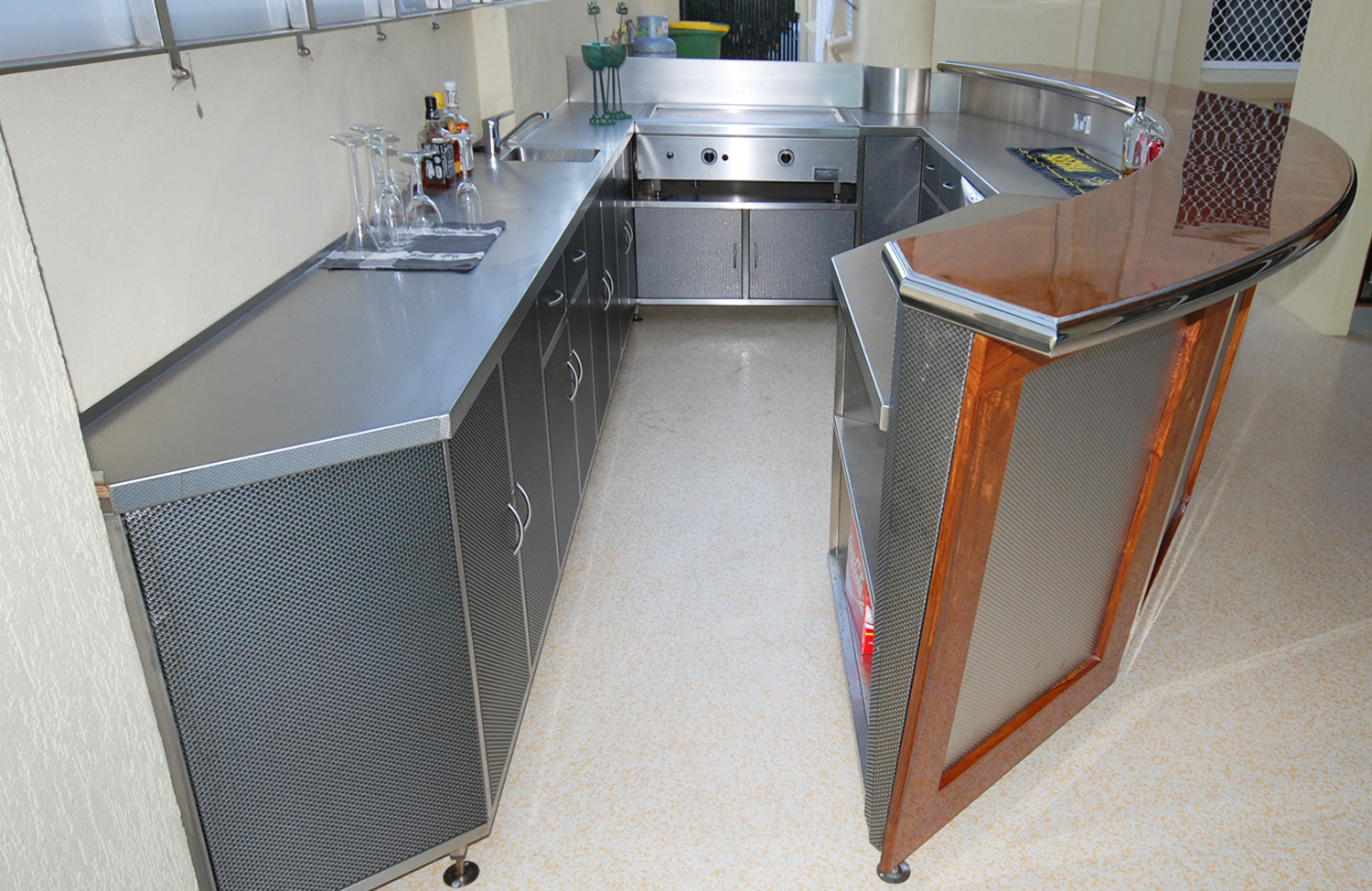 Custom stainless steel cabinet-6