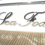 Stainless steel boat name, lettering