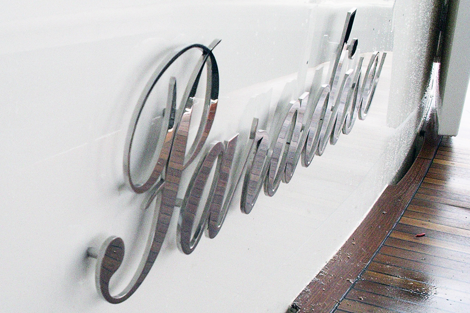 stainless steel boat names and lettering