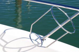 Stainless boat Fender Basket on Maritimo