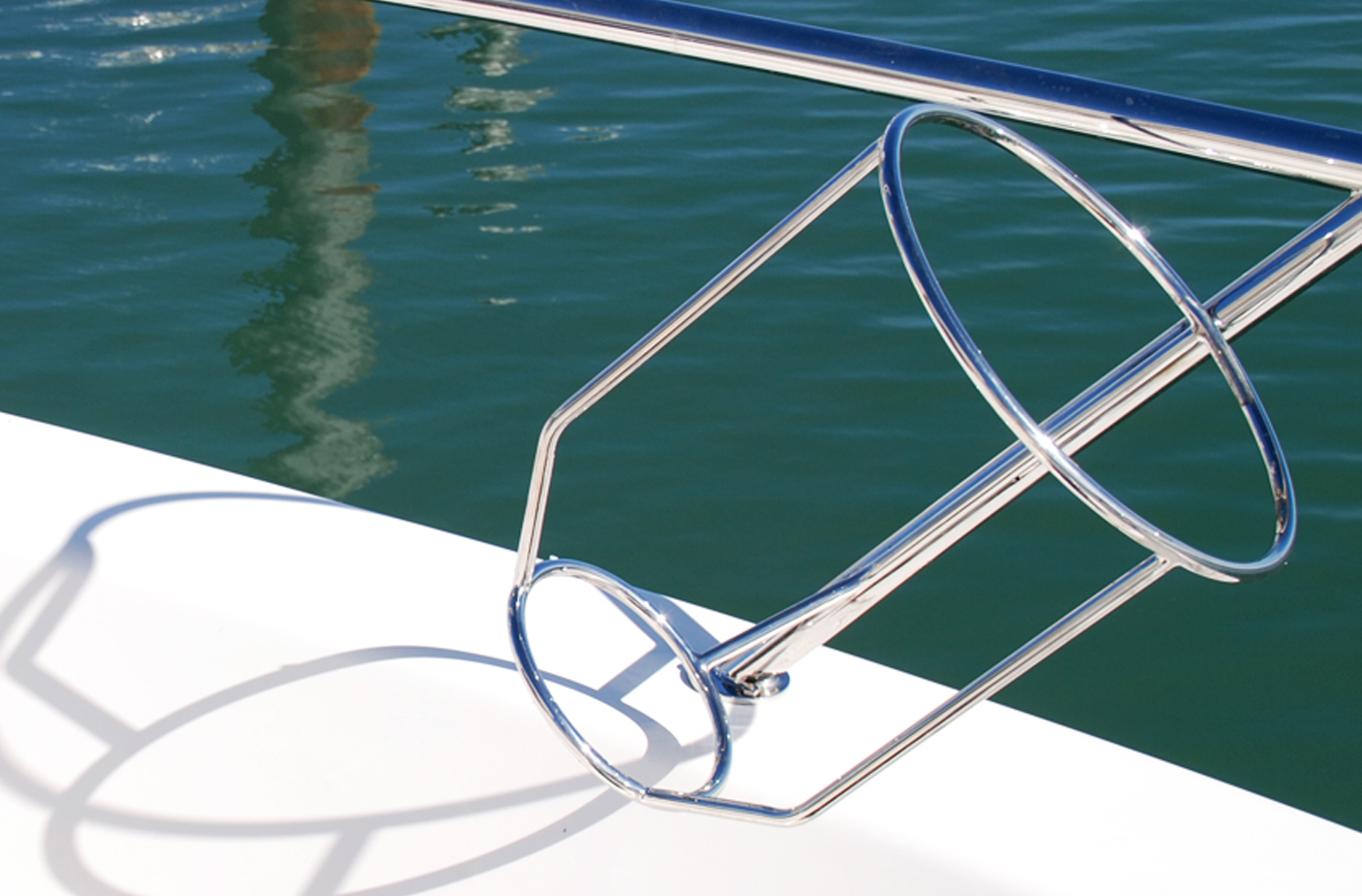 Stainless boat Fender Basket on Maritimo