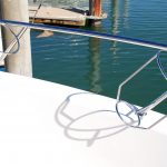 Stainless boat Fender Baskets on Maritimo
