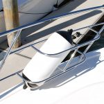 Custom stainless boat Fender Baskets Australia