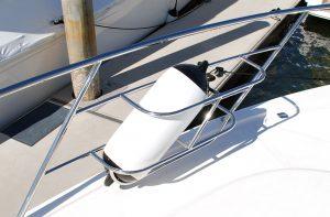 Custom stainless boat Fender Baskets Australia