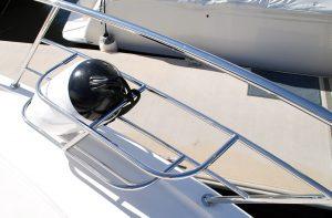 Custom made stainless boat Fender Baskets