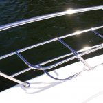 Custom made stainless steel boat Fender Baskets
