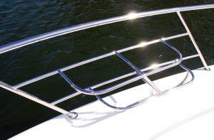 Custom made stainless steel boat Fender Baskets