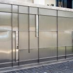 Residential stainless front electric gate