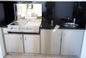 Residential stainless outdoor kitchen and bbq
