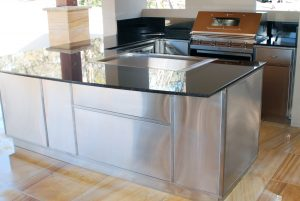 Residential stainless indoor kitchens