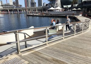 cockle bay, darling harbour, sydney stainless steel handrails