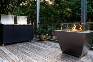 Southern stainless gas firepit