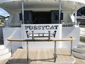Stainless steel boat name-Pussycat1