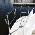 custom stainless steel stern rail for mustang cruiser