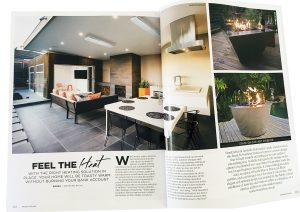 Gas FirePit featured in Grand Designs Magazine