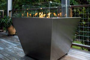 Natural gas square Australian fire pit