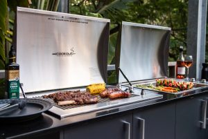 Cookout BBQ's Infinity Stainless BBQ's in bench