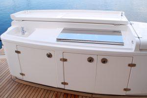 Stainless Custom Flush Mount Boat BBQ