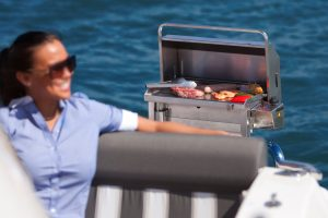 High quality stainless gas boat BBQ