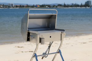 Deluxe Portable Gas BBQ on Beach Stand