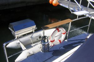 Gas Boat BBQ and Baitboard