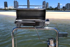 Gas BBQ with Utensil Tray and Gas Bottle