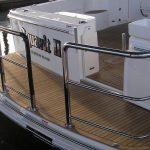Stainless duckboard rail