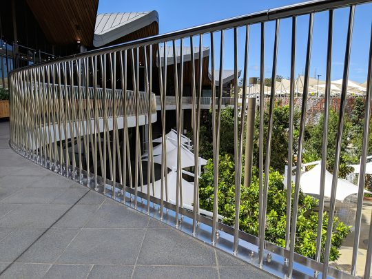 The Kitchens Outside Stainless Balcony-Robina Town Centre Upgrade