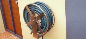 Stainless steel custom wind up hose reel