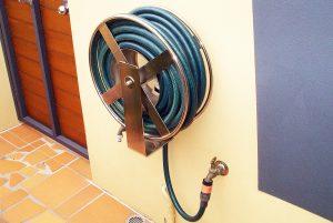 Stainless custom wind up garden hose reel