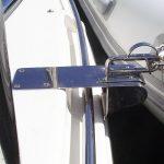 Stainless dinghy snap davit mounts