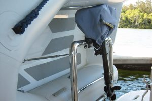 Stainless tender mount for duckboard rail