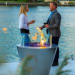 Round gas fire pit made in Australia for your outdoor entertaining