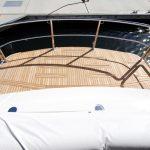 Stainless duckboard rail on luxury motor yacht