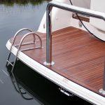 Stainless Boat Swim Ladder on Duckboard