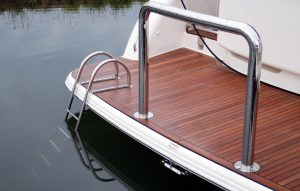 Stainless Boat Swim Ladder on Duckboard