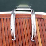 Stainless Steel Australian made Boat Swim Ladder on Duckboard