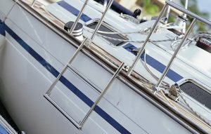 Stainless Swim Ladder off side of Yacht or Sail Boat