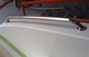 Australian made stainless steel Grab Rail for safety on your boat