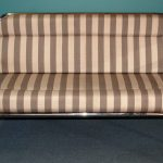 Stainless Steel Furniture, Custom built stainless lounge with striped cushion