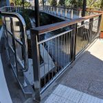 Brisbane Queen's Wharf stainless steel bicycle and pedestrian balustrade fabrication